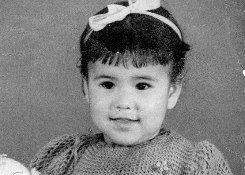 Catalina en su niñez, años '40.