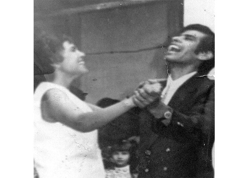 Caty en su matrimonio con Rolando Rodríguez.