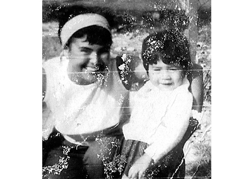 Catalina y su sobrina Viviana Gallardo.