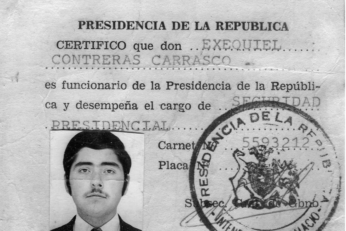 Documento original de pertenencia de Exequiel al GAP. (Grupo de Amigos del Presidente)