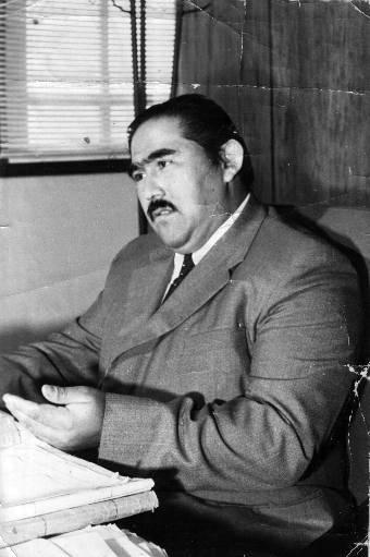 Mario en su oficina de CORFO- Zona Norte, 1970.