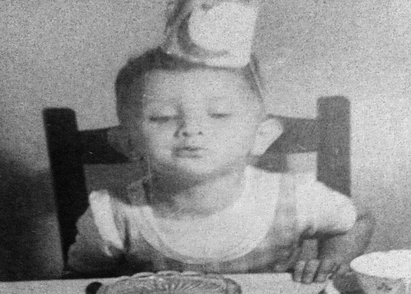 Jorge en su segundo cumpleaños, año 1949, Santiago