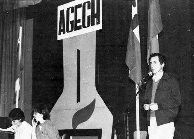 Como Dirigente de la Asociación Gremial de Educadores de Chile.