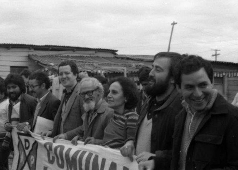 Manuel en actividades de Dirigente, años '80, Santiago.