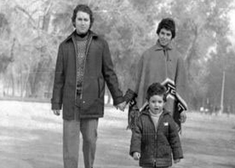 Manuel, Verónica y Manuel (hijo). Años '70. Santiago.