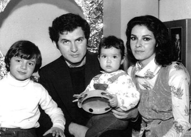 Familia Guerrero - Antequera: Manuel (padre), Verónica, Manuel (hijo) y América. Hungría.