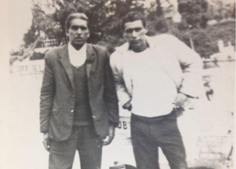 Freddy y un amigo en Concepción, alrededor de 1960.