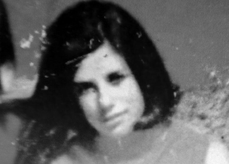 María Inés en San Sebastián, verano del '68.
