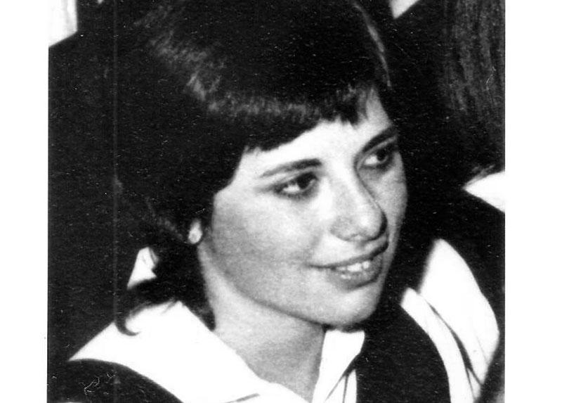 María Inés en su graduación de IV° medio LMS, detalle, 1970,