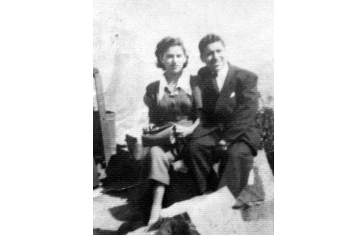 Manuel y su esposa Ana Concepción en un paseo al cerro Santa Lucía, después de su matrimonio.