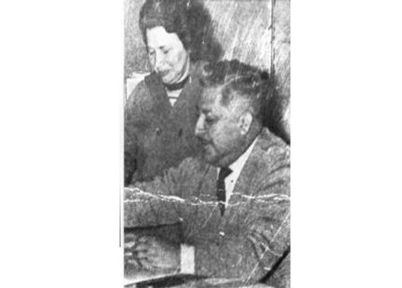 María Olga y su  Marido Bernardo Araya, años '70.
