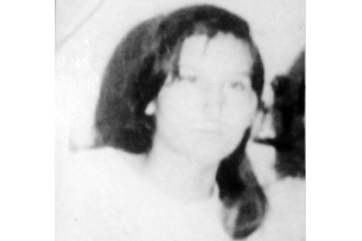 Recorte de una foto familiar, María Paz tenía cerca de 18 años. Santiago.
