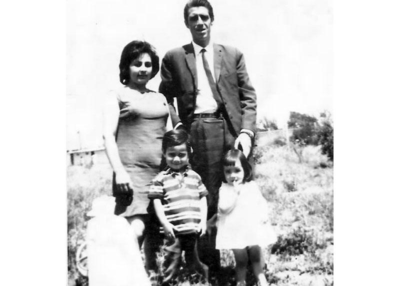 Familia Weibel- Avendaño, navidad de 1970.