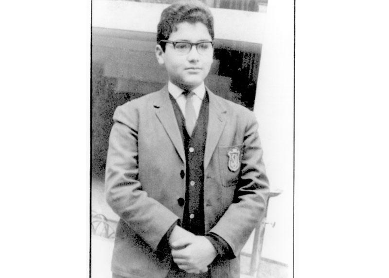 Fernando, cuando era estudiante del Instituto Nacional.